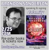 JUST ANNOUNCED! Brandon Sanderson Comes to BookPeople!